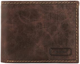 PALAMU Men Brown Leather Bi-Fold Wallet ( Pack of 1 )
