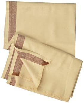 PARIJATA Unisex & Men Wool Shawl - Brown
