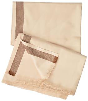 PARIJATA Men & Unisex Wool Shawl - Brown
