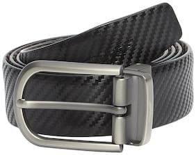 Park Avenue Men Black Leather Belt (Size: 42 , Pack of 1 )
