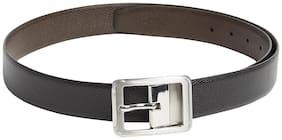Park Avenue Solid Black Leather Belt