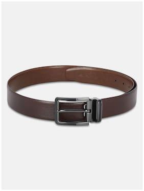 Park Avenue Men Brown Reversible Leather Belt (Size: 34 , Pack of 1 )