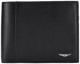 Park Avenue Men Black Leather Bi-Fold Wallet ( Pack of 1 )