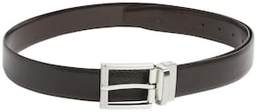 Park Avenue Men Brown Leather Belt (Size: 38 , Pack of 1 )