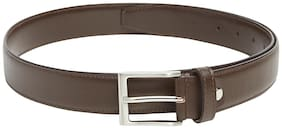 Park Avenue Men Brown Leather Belt (Size: 38 , Pack of 1 )