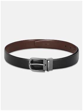 Park Avenue Men Black Reversible Leather Belt (Size: 36 , Pack of 1 )