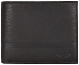 Park Avenue Men Brown Leather Bi-Fold Wallet