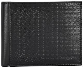 Park Avenue Men Black Leather Bi-Fold Wallet