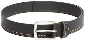 Park Avenue Men Black Leather Belt (Size: 36 , Pack of 1 )