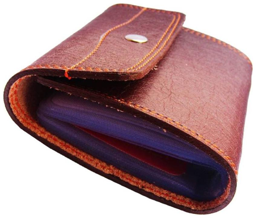 Peacock Mundkar Boys Tan Artificial Leather Card Holder   20 Card Slots