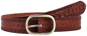 Aditi Wasan Women Leather Belt - Brown