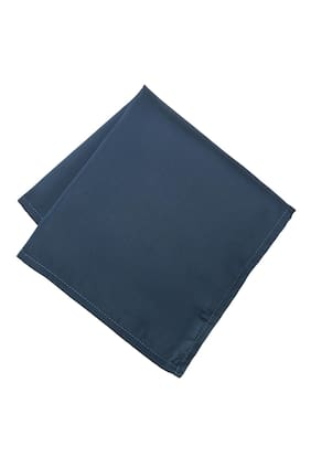 Peter England Polyester Pocket Square - Blue