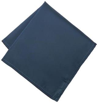 Peter England Polyester Pocket Square - Blue