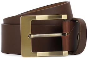 Peter England Men Brown Leather Belt (Size: 36 , Pack of 1 )
