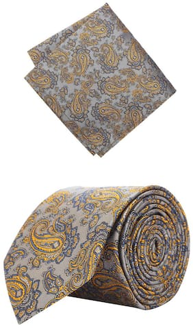 Peter England Men Tie And Pocket Square