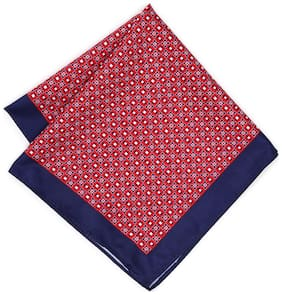 Peter England Red Pocket Square