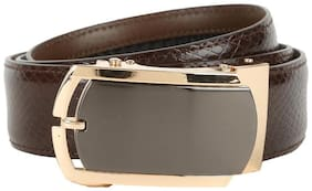 Peter England Men Brown Leather Belt (Size: 40 , Pack of 1 )