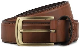 Peter England Men Brown Leather Belt (Size: 32 , Pack of 1 )