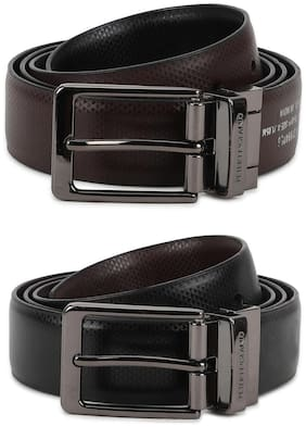 Peter England Casual PU Brown Reversible Belt For Men