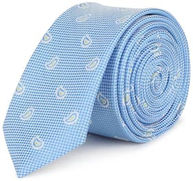 Peter England Polyester Blue Casual Regular Long Tie For men