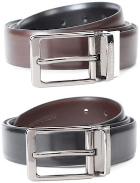 Peter England Black Reversible Belt