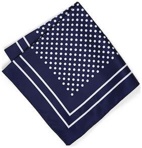 Peter England Blue Pocket Square