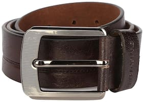 Peter England Men Brown Leather Belt (Size: 30 , Pack of 1 )