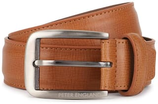 Peter England Men Brown Pu Belt (Size: 36 , Pack of 1 )