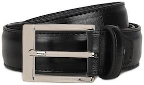 Peter England Men Black Pu Belt (Size: 38 , Pack of 1 )