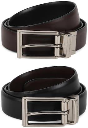 Peter England Men Brown Pu Belt (Size: 34 , Pack of 1 )