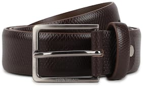 Peter England Casual Leather Brown Reversible Belt For Men