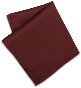Peter England Polyester Pocket Square - Maroon