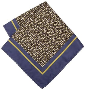 Peter England Polyester Pocket Square - Brown
