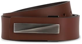 Peter England Men Brown Leather Belt (Size: 38 , Pack of 1 )