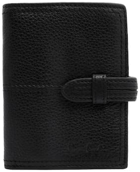 Pierre Cardin Men Black Leather Bi-Fold Wallet ( Pack of 1 )