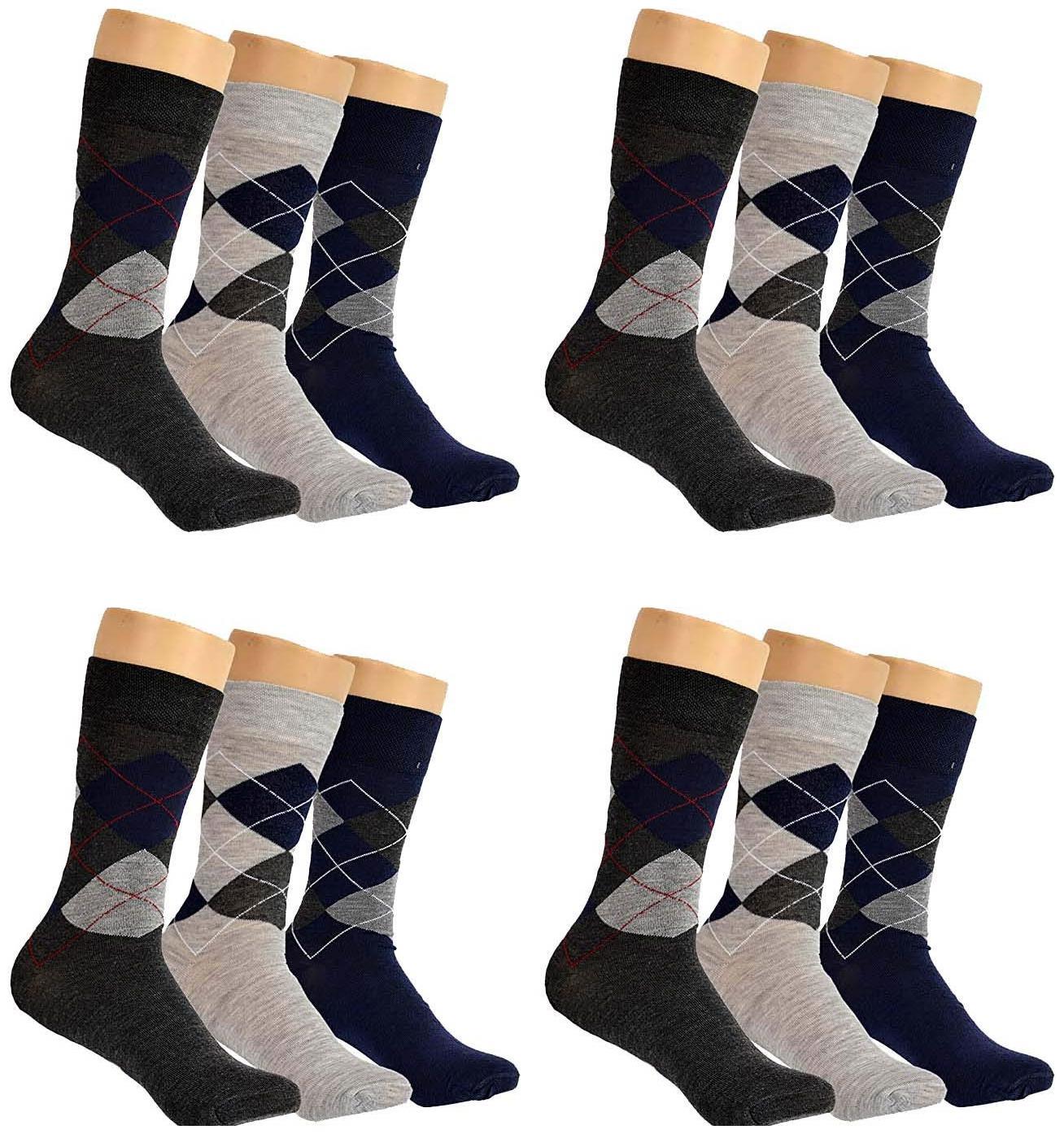 PINKIT Cotton Crew Length Socks For Men