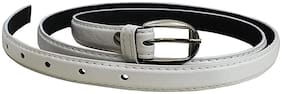PINKIT Women Leather Belt - White