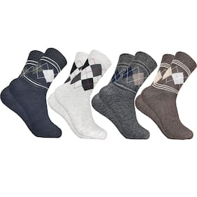 Pinkit Multi Wool Ankle length socks ( Pack of 4 )