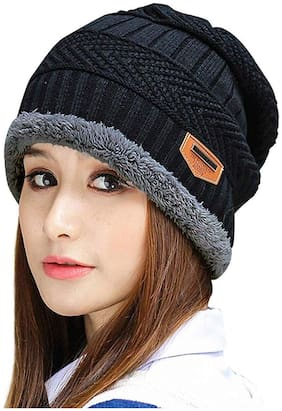 PinKit (Pack of 1) Unisex  Latest Woolen Winter Beanie