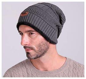 PinKit (Pack of 1) Unisex  Latest Woolen Winter Beanie