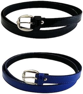 PinKit PU Leather Belt Combo Pack for Women / Ladies / Girls