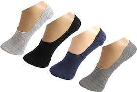 Pinkit Multi Wool No show socks ( Pack of 4 )
