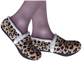 PINKIT Warm Winter Slipper Fur Socks for Women/Ladies / Girl Colorful Booties Slipper Socks (Boot Style) for Indoor Use
