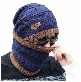Unisex Wool Beanie ( Blue )
