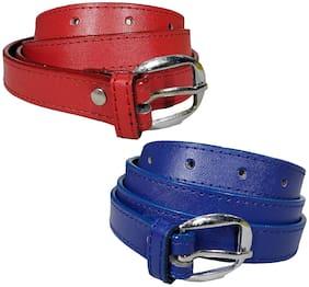 Women PU Belts ( Red;Blue )