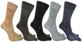 PinKit Women's Warm Woolen Calf Length Thumb Socks
