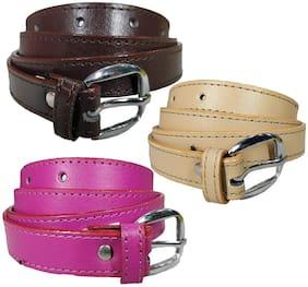 Women PU Belts ( Multicolor )