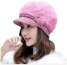 Women Wool Caps ( Pink )