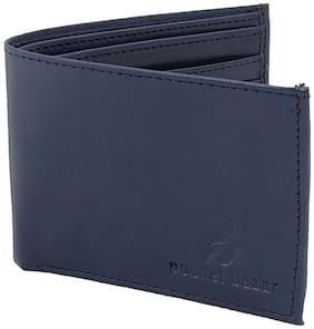 pocket bazar Men Blue Synthetic leather Bi-Fold Wallet ( Pack of 1 )
