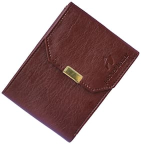 pocket bazar  Men Brown Artificial Leather Wallet  (6 Card Slots)